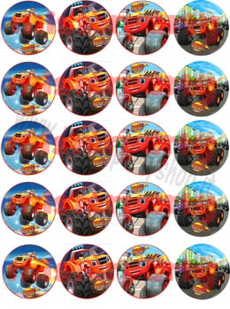 Cialda ostia per cupcakes blaze mega macchine for Immagini di blaze