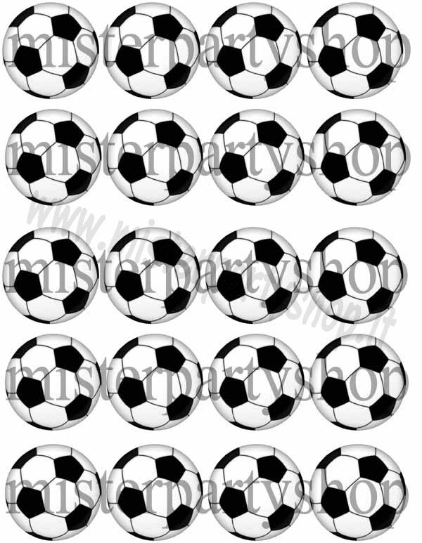ff3197751 Cialda Ostia per cupcakes Pallone da Calcio