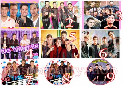 Cialda Ostia per torte Big Time Rush
