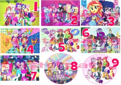 Cialda Ostia per torte Equestria Girls My Little Pony