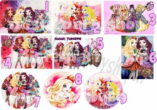 Cialda Ostia per torte Ever After High