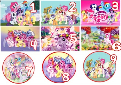 Cialda Ostia per torte My Little Pony