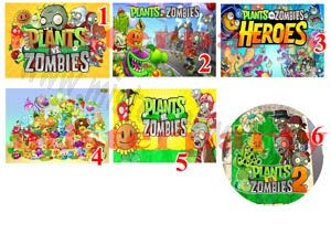 Cialda Ostia per torte Plants Vs Zombies - Piante vs Zombi