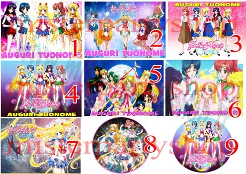Cialda Ostia per torte Sailor Moon Crystal