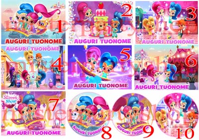 Cialda Ostia per torte Shimmer and Shine