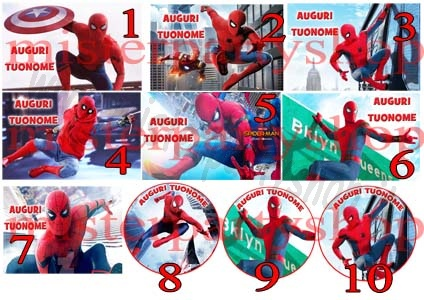 Cialda Ostia per torte Spiderman Homecoming