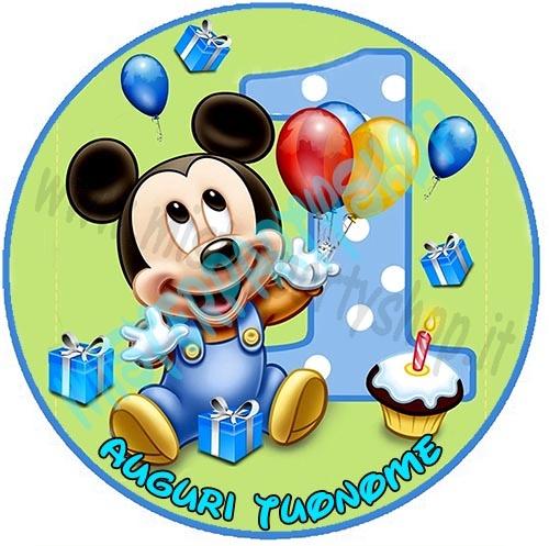 Cialda Ostia per torte Topolino Baby Disney 1 anno copia