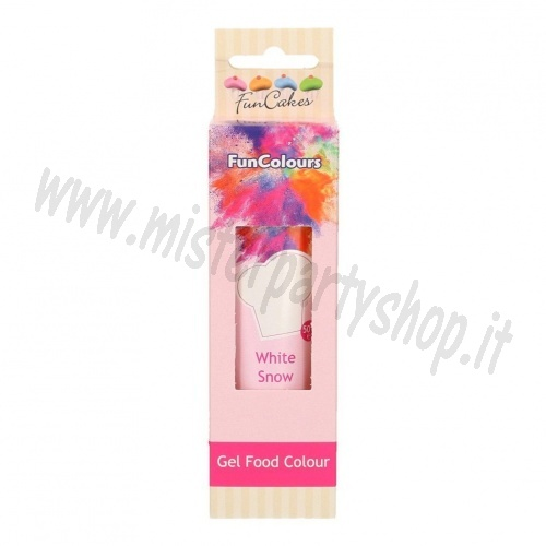 Colorante Gel Bianco Funcakes Funcolours 50 gr.