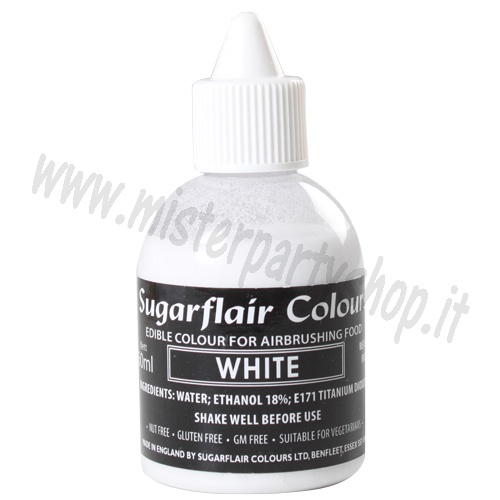 Colorante Liquido Bianco Sugarflair per Aerografo 60 ml.