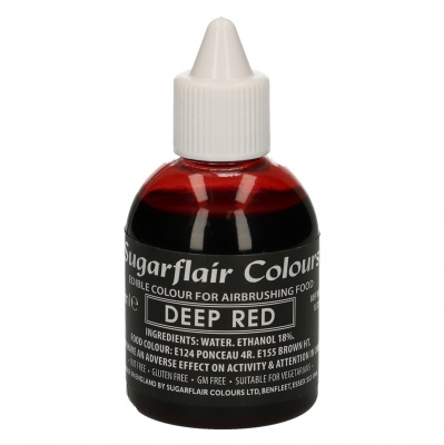 Colorante Liquido Rosso Intenso Sugarflair per Aerografo 60 ml.