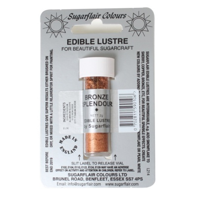 Colorante in Polvere Perlato Bronze Splendour - Bronzo Edible Lustre Sugarflair