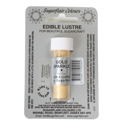 Colorante in Polvere Perlato ORO Brillante Edible Lustre Gold Sparkle Sugarflair