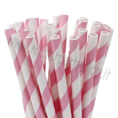 Leccalecca/Lollipop/Cakepops Sticks Strisce Rosa Bastoncini Cannucce House of Marie