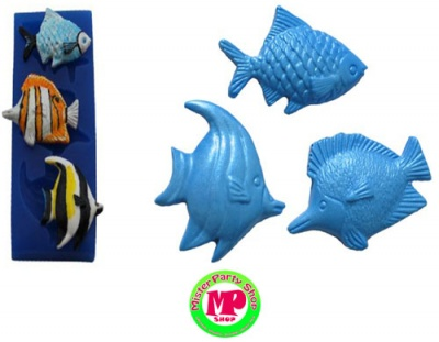 Mini Fish Trio Mold Silicone 3 pezzi Pesciolini First Impression