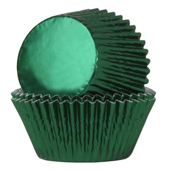 Pirottini Verde Metallizzato Foil per Muffins House of Mary