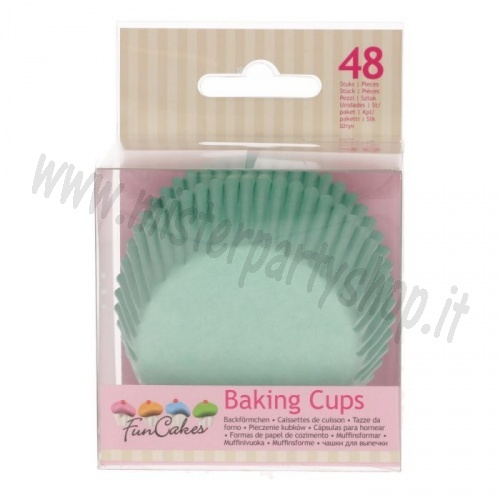 Pirottini per Muffin o Cupcake - Color Menta tipo Tiffany Cartine Carta Forno 48 pezzi
