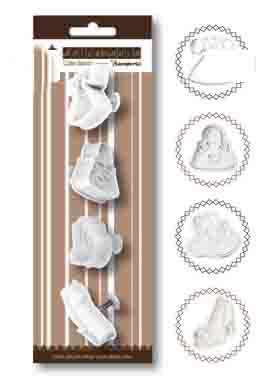"Set 4 stampi ""Chic"" Dolcemania Stamperia"
