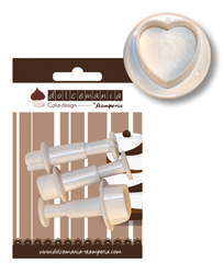 Set 4 stampi a cuore Dolcemania Stamperia