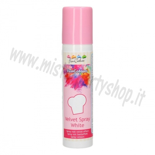 Spray Colorante Bianco Velluto Funcakes 100 ml
