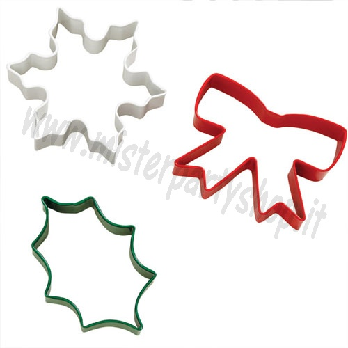 Tagliapasta Cookie Cutter Delightfully Decadent set/3 Natale Wilton