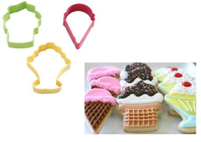 Tagliapasta Estate Gelati Cookie Cutter Set/3 Wilton