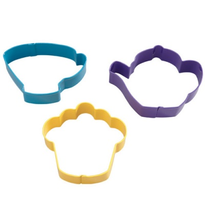 Tagliapasta Tea Party Cookie Cutter Set/3 Wilton