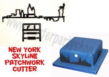 Tagliapasta ad incisione New York Skyline Grattacieli Patchwork Cutters
