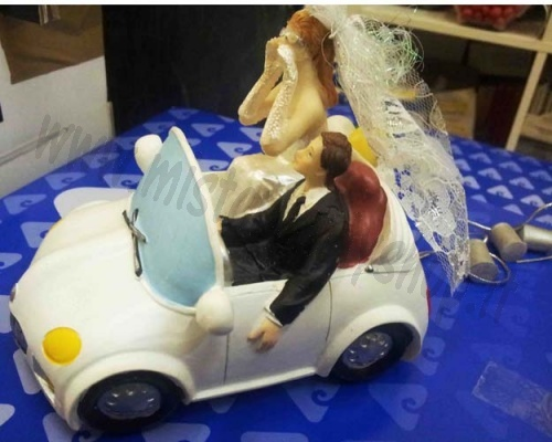 "Topper Sposi in Auto ""Just Married"" Ambra's"